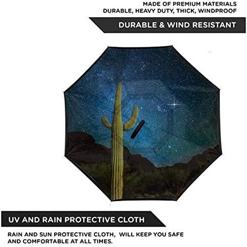 冬の天の川 逆さ傘 逆折り式傘 車用傘 耐風 撥水 遮光遮熱 大きい 手離れC型手元 梅雨 紫外線対策 晴雨兼用 ビジネス用 車用 UVカット