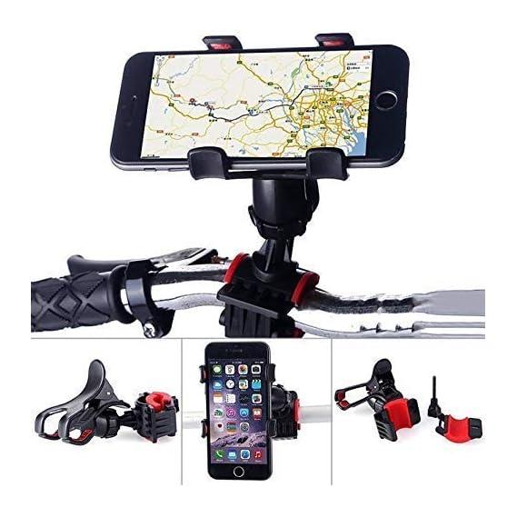 Universal Clip Mobile Phone Holder Adjustable 360 Degree Bike/Bicycle Handlebar Mount & Stand.