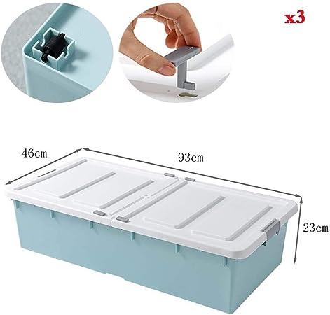 Caja de almacenamiento de cama KEKET1 Cajas de almacenamiento de tapa plegable con tapas debajo de