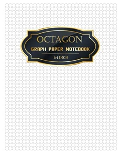 Octagon Graph Paper Notebook 1/4 Inch: Spiral Graphing Composition ...