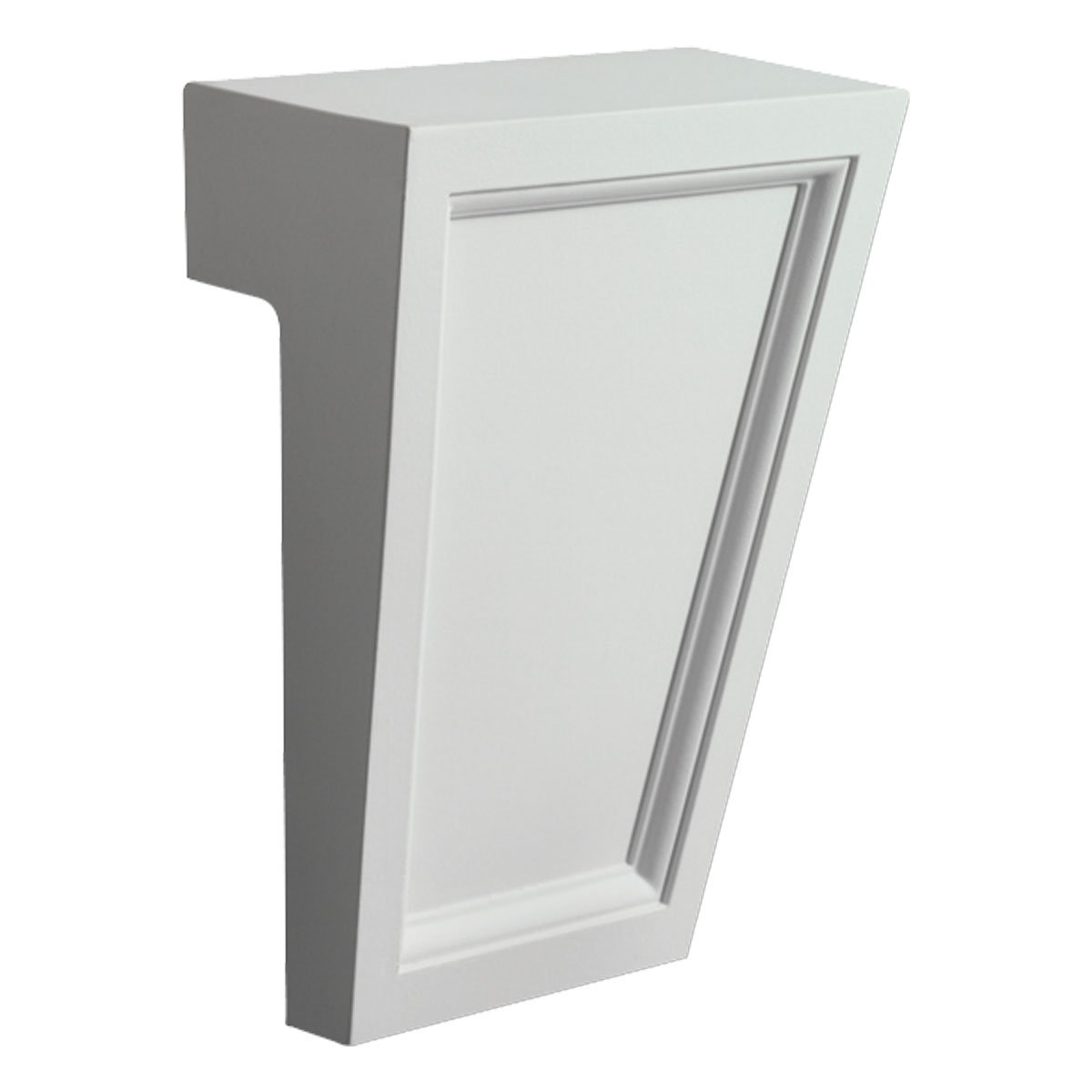 Fypon KP6TF 6''W x 7''H x 2 3/8''P Recessed Keystone for Use with FLT159