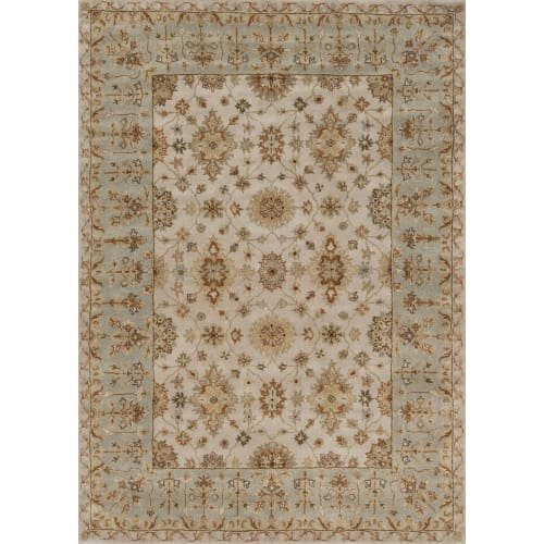 Ivory By Rug 05 (Loloi Rugs ELMWEW-05-160S Elmwood 2' Rectangle Wool Hand Tufted Transitional Are, Ivory)