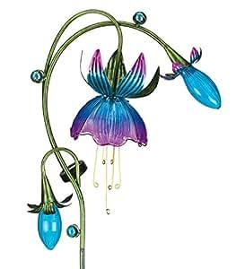 Regal Art & Gift 16 Inches x 6 Inches x 38 Inches Solar Fuchsia Stake Pink Blue Garden Decor
