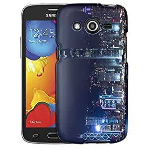 Samsung Galaxy Avant Case, Slim Fit Snap On Cover by Trek Hong Kong at Night Case