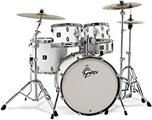 gretsch gex825zw energy 5 piece drum set with hardware zildjian cymbals white. Black Bedroom Furniture Sets. Home Design Ideas