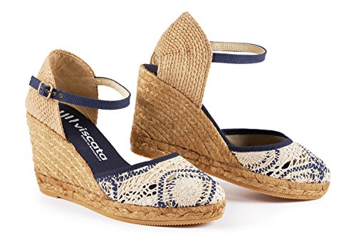 VISCATA Barcelona Satuna - Crochet White Navy EU36