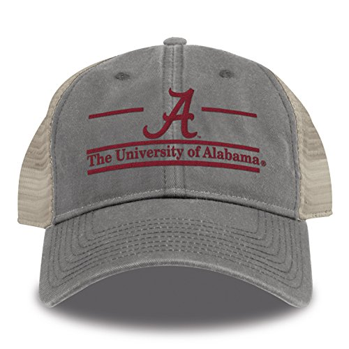 The Game NCAA Alabama Crimson Tide Split Bar Design Trucker Mesh Hat, Grey, ()