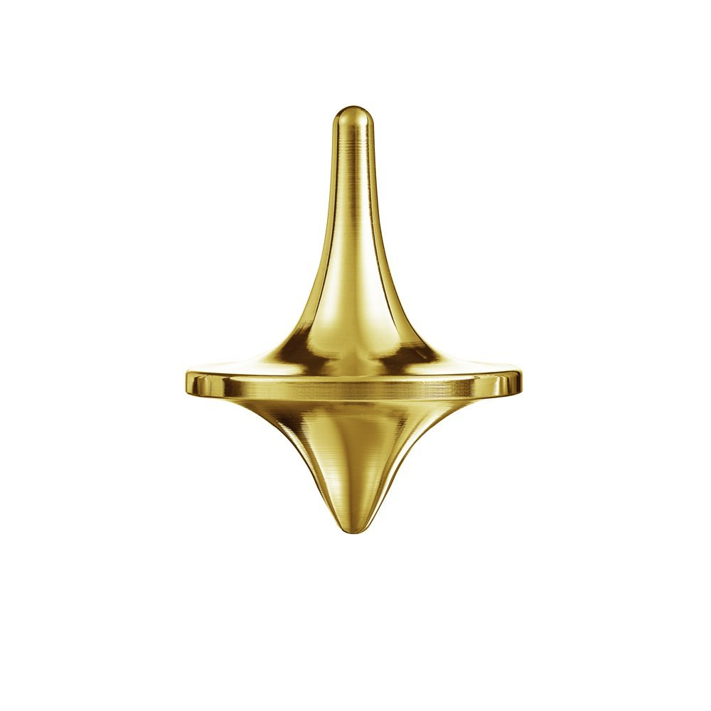 ForeverSpin 24kt Gold Plated(Brush-Finish) Spinning Top - World Famous Metal Spinning Tops by ForeverSpin