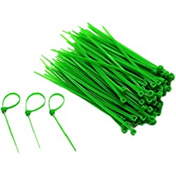 "Ancefine 8"" Nylon Self-Locking Zip Cable Ties,Green,300 Pieces"