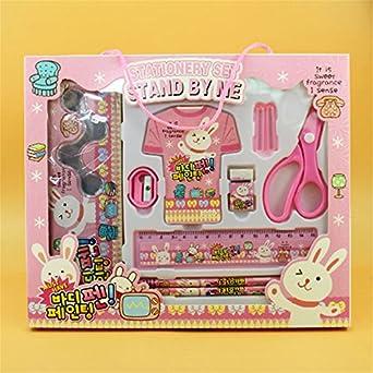 10pcs en una caja con niños papelería Cartoon Papelería Kawaii ...