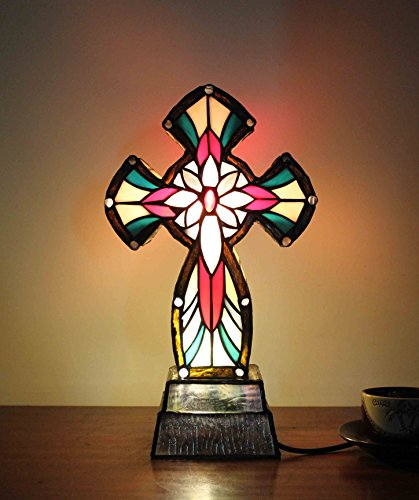 Fixture Displays Tiffany Lighted Cross Christian Gifts/ Lamps 16699! by FixtureDisplays