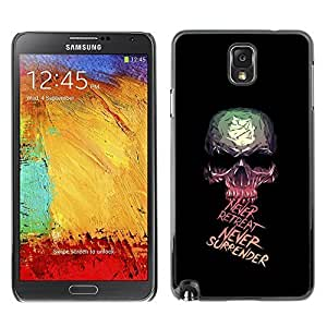 GagaDesign Phone Accessories: Hard Case Cover for Samsung Galaxy Note 3 - Never Retreat Never Surrender