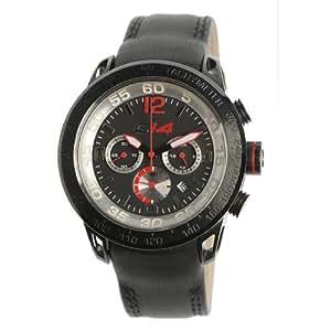 CARBON 14 E2.4 - Reloj de caballero de cuarzo, correa de piel color negro