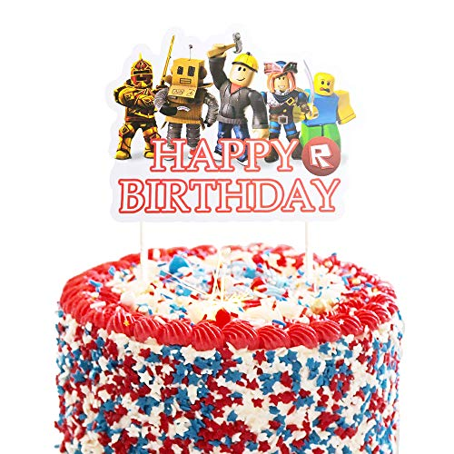 1 Count Birthday Cake Topper for Roblox Cake Decoration - Party Decor Toppers
