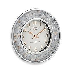 Pearl Mosaic 10-1/4-Inch Wall Clock