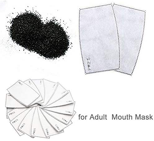 10PCS) Anti Dust Pollution Meltblown Cloth Non-Woven Cloth Filters for Women Mens Breathable 5 Layers Activated Carbon Filters
