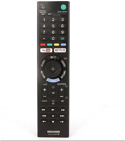 Mando a distancia VIRCIA RMT-TX300P para Sony Smart TV con Youtube y Netflix compatible con todos los televisores Sony LED, LCD, Android y OLED para KD-55X7000E KDL-49W660E: Amazon.es: Electrónica