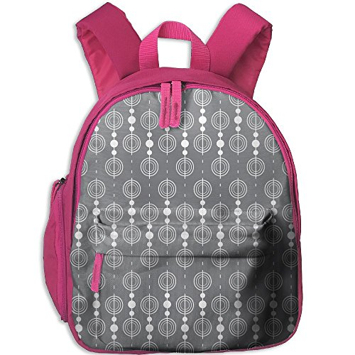SarahKen Circles Rounds Chained Spirals Retro Style In Mod Boys And Girls School Bagpack Bag Pink 12.5