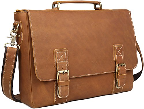 iswee-mens-cowhide-leather-flapover-tote-shoulder-bags-messenger-bag-briefcases-fit-16-in-laptop-cas