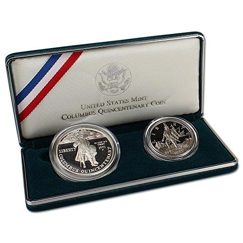 Proof Columbus - 1992 US Columbus Quincentenary 2-Coin Commemorative Proof Set OGP
