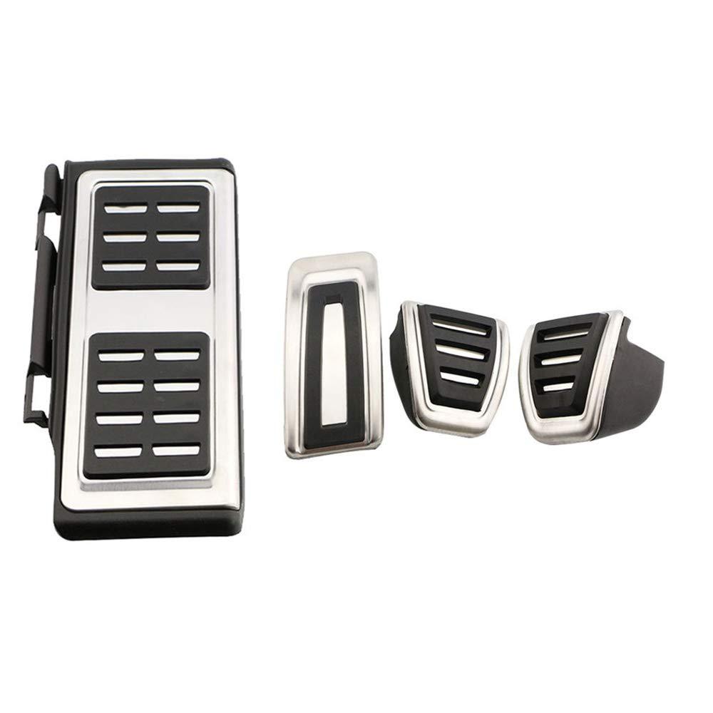 BANIKOP Cubierta de Pedales de Pedal de Coche de Acero Inoxidable para Coche para Volkswagen VW Passat B8 Limited Edition Variant VIII 2015-2018
