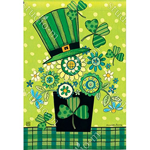 Breeze Art Blooming Irish Clover St Patrick Day Garden Flag 31683 (Art Breeze)