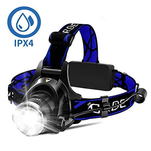 Headlamp, Super Bright LED Headlamps 18650 USB...