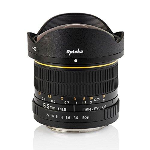 Opteka 6.5mm f/3.5 Fisheye Lens for Nikon D7500, D7200, D7100, D7000, D5500, D5300, D5200, D5100, D3400, D3300, D3200 and D3100 Digital SLR Cameras