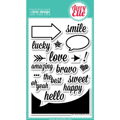 UPC 811568020566, Avery Elle Stamp Set, 4-Inch by 6-Inch, Oh Yeah, Clear