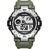 SMAEL Watch Men Military Watch Casual LED Sport Digital Watches Outdoor Army Wrist Watches (Army Green)