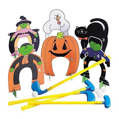 Fun Express - Halloween Golf Set (26pc) for Halloween - Toys - Games - Indoor & Mini Game Sets - Halloween - 26 Pieces -