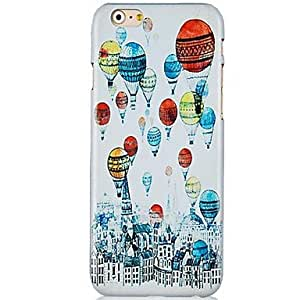 QJM Colorful Balloons Pattern Hard Back Case for iPhone 6 Plus