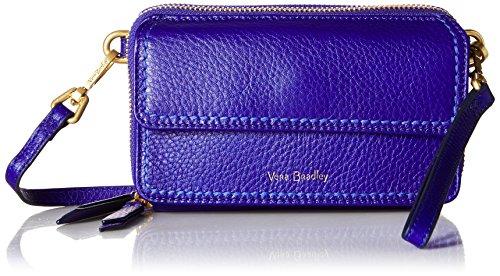 Vera Bradley Mallory RFID All in One Crossbody, Leather, gage Blue