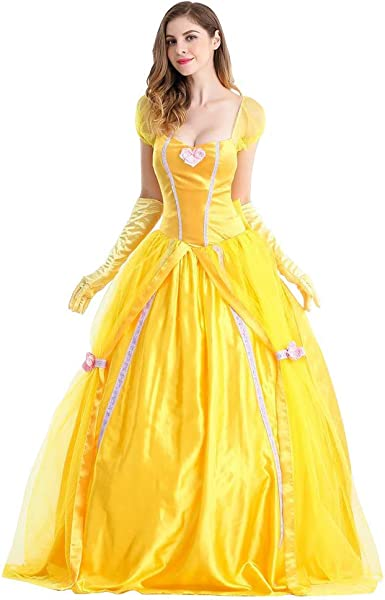 Women Ladies Adult Long Princess Dress Party Fancy Halloween Costume Cosplay