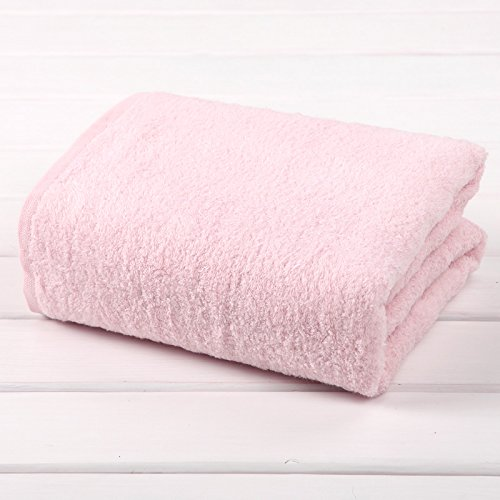 TDLC The new no-twist yarn towel adult men, the children's bath towels bath towel,P Pink by TDLC
