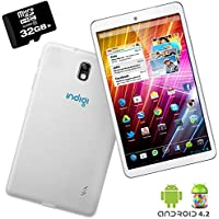 Indigi White Android 4.2 Tablet PC 7in Dual Core HDMI Leather Back WiFi + 32GB micro SD