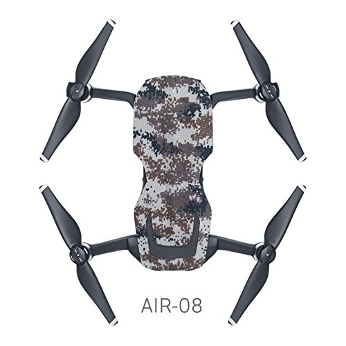 MoreToys Waterproof Battery Decal Remote Controller Skin Wrap Decorative Sticker Decal Skin Full Set Drone Body Sticker for DJI Mavic Air Quadcopter Drone (I)