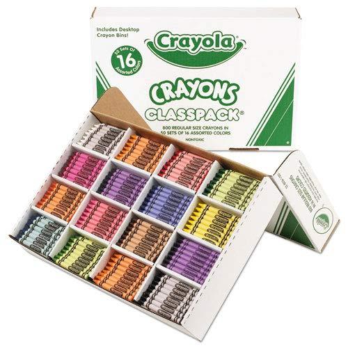 (Classpack Regular Crayons, 16 Colors, 800/BX, Sold as 800 Each)