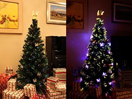 the latest 9c99d 07079 Amazon.com: XmasBuddy 6 FT PRE-LIT Multi Color LED Lights ...