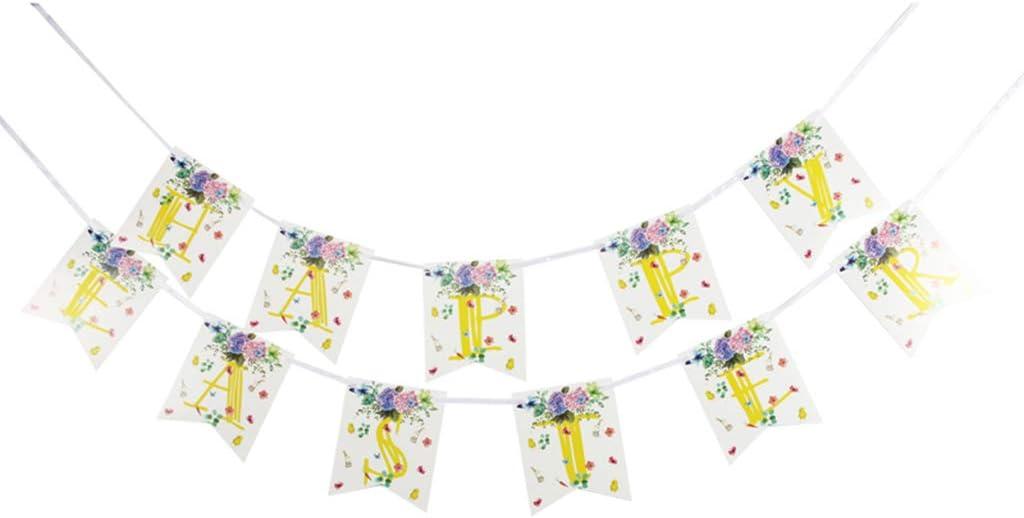 certylu Decoración de Bricolaje para Fiestas, guirnaldas de Papel Bunting Garland para Suministros de decoración de Pascua 2 Piezas