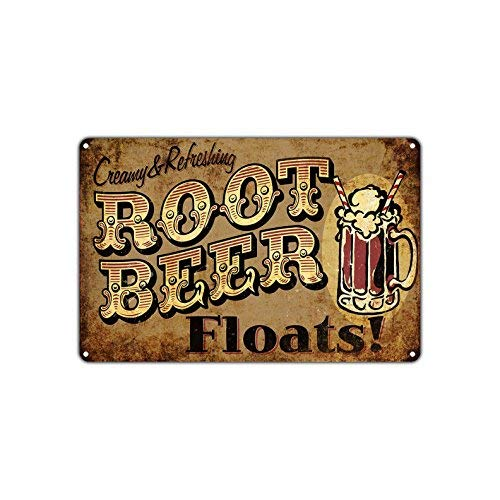 Creamy & Refreshing Root Beer Floats Retro Vintage Retro Metal Wall Decor Art Store Man Cave Bar Garage Aluminum Sign 7