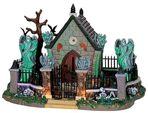 Lemax Spooky Town Graveyard Scene with Adaptor # 55907