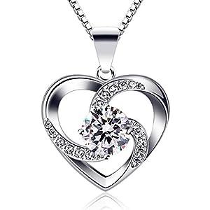 "B.Catcher Women Necklace 925 Sterling Silver ""Crazy Love"" Pendant Necklaces"