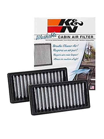 K&N VF1010 Washable & Reusable Cabin Air Filter Cleans and Freshens Incoming Air for your 2011-2016 JEEP Wrangler - Jeep Wrangler K & N Filtro Aria