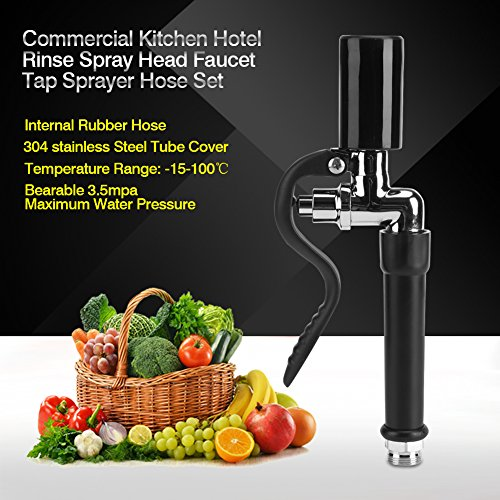 Kitchen Faucet with Tap Sprayer-High Pressure Flexible Hose stainless steel for Commercial Kitchen Hotel by GOTOTOP (Image #1)