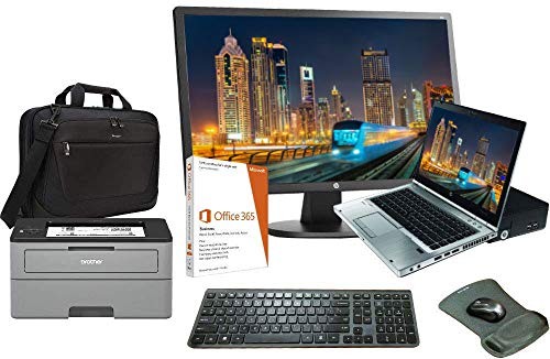 HPE Elite 8460p Laptop All in One Bundle, Intel i5 2.5GHz, 16GB, 250GB SSD, Windows 10, O365
