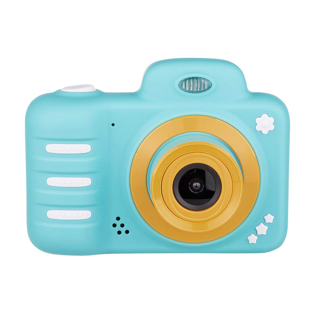 Basde Camera for Kids, Kids Digital 2.4 HD Screen Camera Children Video Camera Creative Birthday Gifts, Girls Boys Birthday Gift Toy Come with Waterproof Case, Support Expansion (Mint Green) by Basde