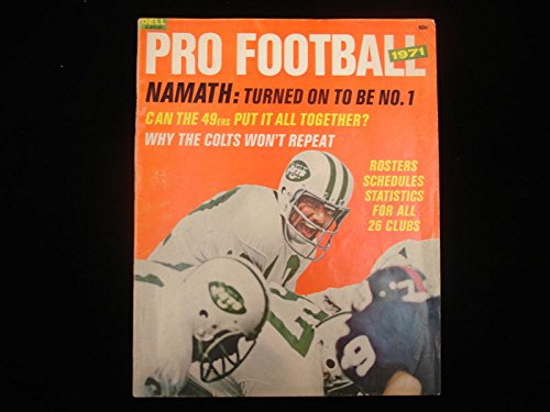 1971 Dell Pro Football Magazine – Joe Namath Cover