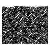 KESS InHouse Nick Nareshni Urban Metal Links Black White Photography Fleece Throw Blanket, 80'' x 60''