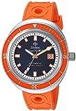 Zodiac Men's Super Sea Wolf 68 Stainless Steel Swiss-Automatic Watch with Rubber Strap, Orange, 23 (Model: ZO9503)